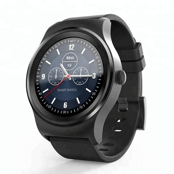 SMA MTK2502C Full Round Touch Screen Heart Rate Monitor iOS and Android Smart Watch SMA-ROUND