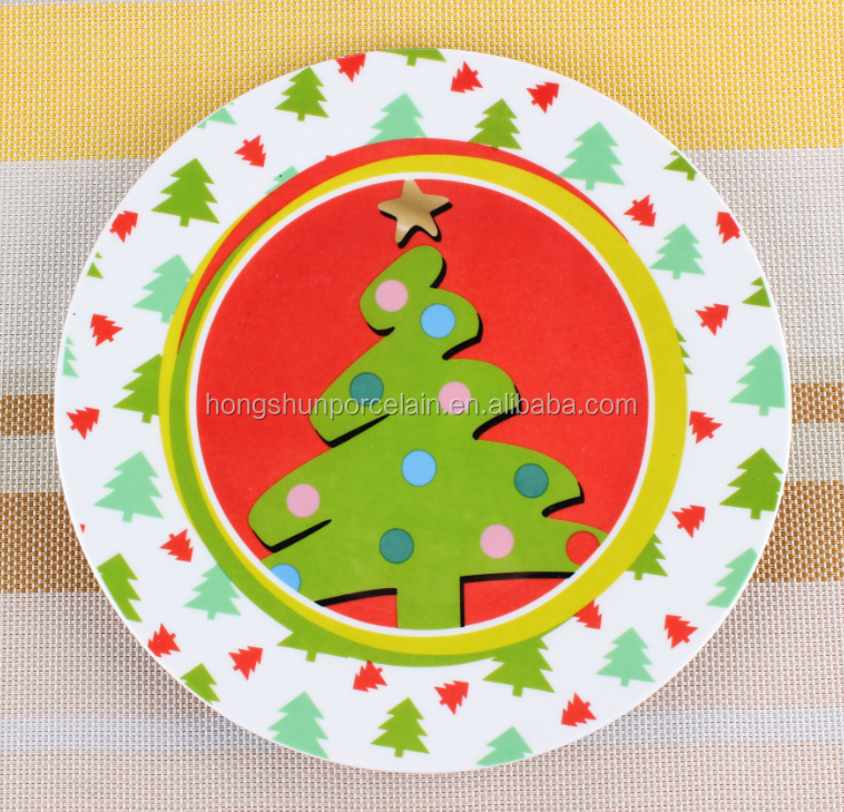 christmas decorate charger plate , porcelain christmas plates , kids christmas plates