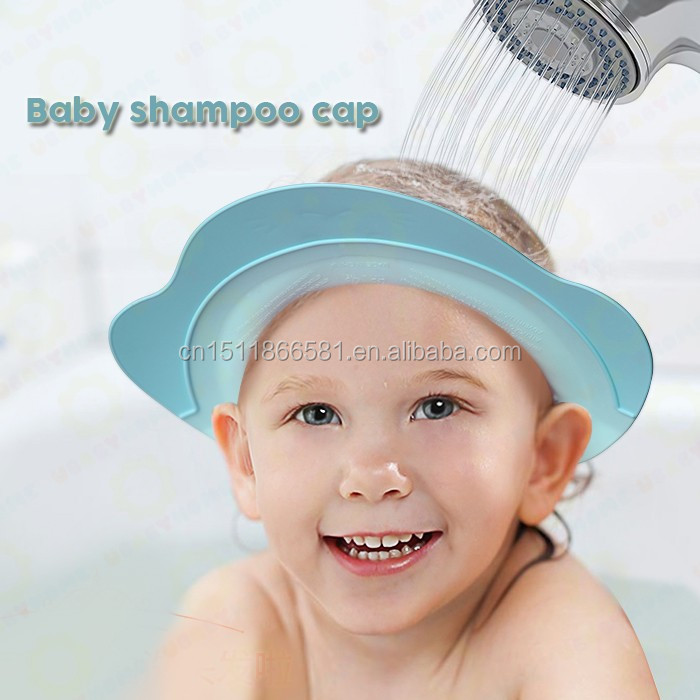 2017 hot selling! adjustable baby bath hat EVA foam shower cap for children