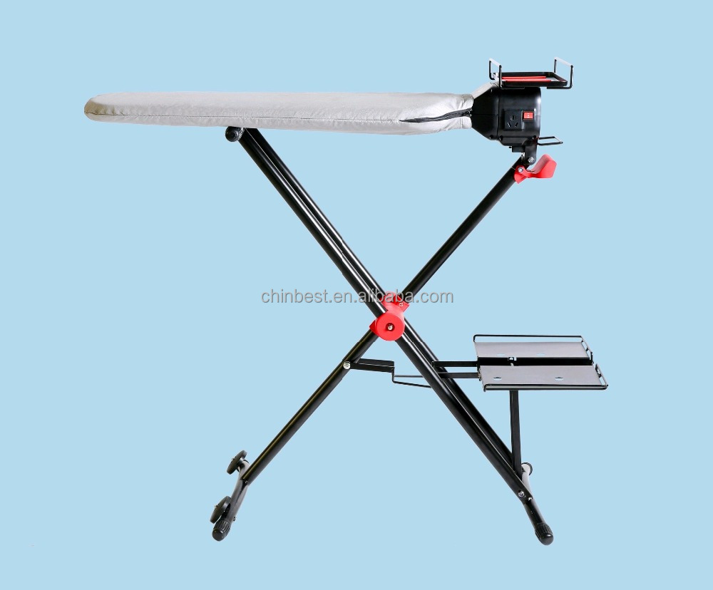 CB-YT002 2017 new design foldable Ironing Board and steam ironing table with 360 Degree Rotating and Detachable Iron Rest