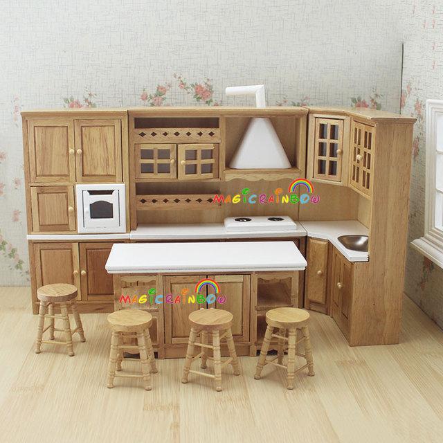 acheter maison de poup es meubles de cuisine jouets en bois armoire hotte vier. Black Bedroom Furniture Sets. Home Design Ideas