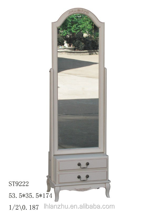 Modern Bedroom British Wind Style Standing Mirror