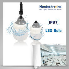 Hontech unique design China poultry light supplier LED poultry barn bulb light, IP67 led bulb with connectors