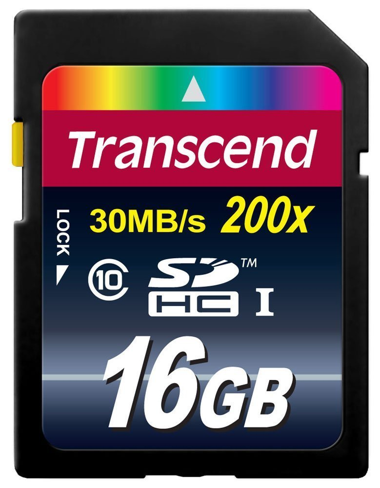 Transcend 16 GB SDHC Class 10 SD Memory Card - 2 Pack