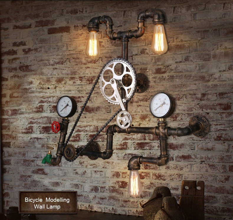 Personality 3pcs Light Sources Wall Lamp For Daavani Restaurant ...