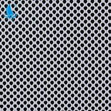 Wholesale breathable nylon spandex clear knit hex mesh fabric for underwear