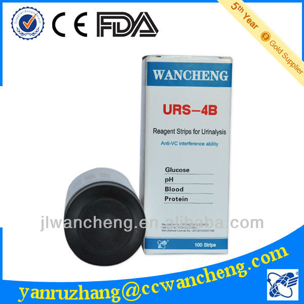 medical diabetes urine diagnostic strip URS-4B protein test(A)