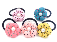 Flower Elastic Hairbands, Pretty Girls Headbands, Girls Ponytail Holder