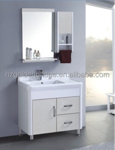 Qierao Floor Mounted Pvc Wash Basin Cabinet Bathroom