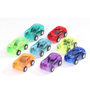 Cheap Candy Color Mini Car Transparent Pull Back Small Car Plastic Toys For Promotional Gift