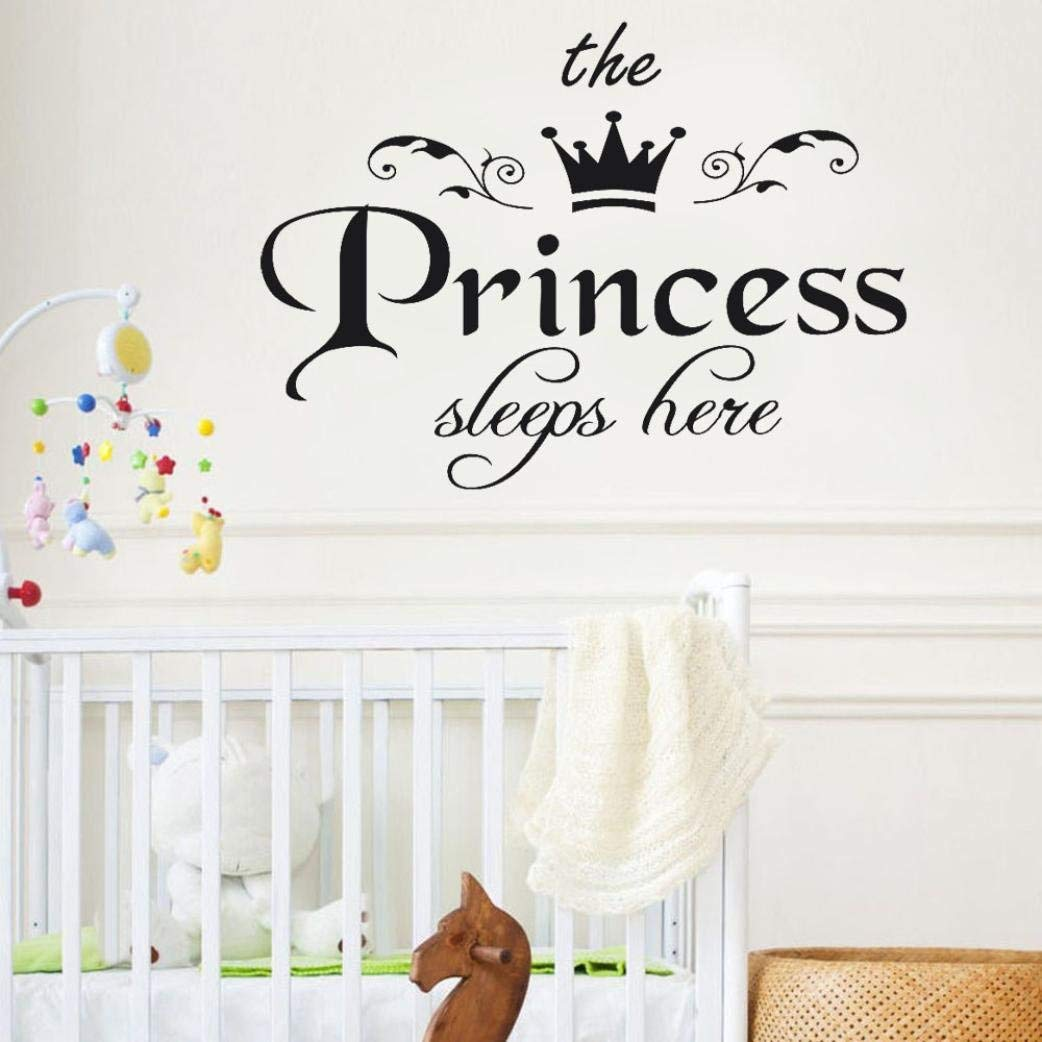 Get Quotations Rumas Vinyl Wall Sticker Quotes Baby S Room Decals The Princess Sleeps Here