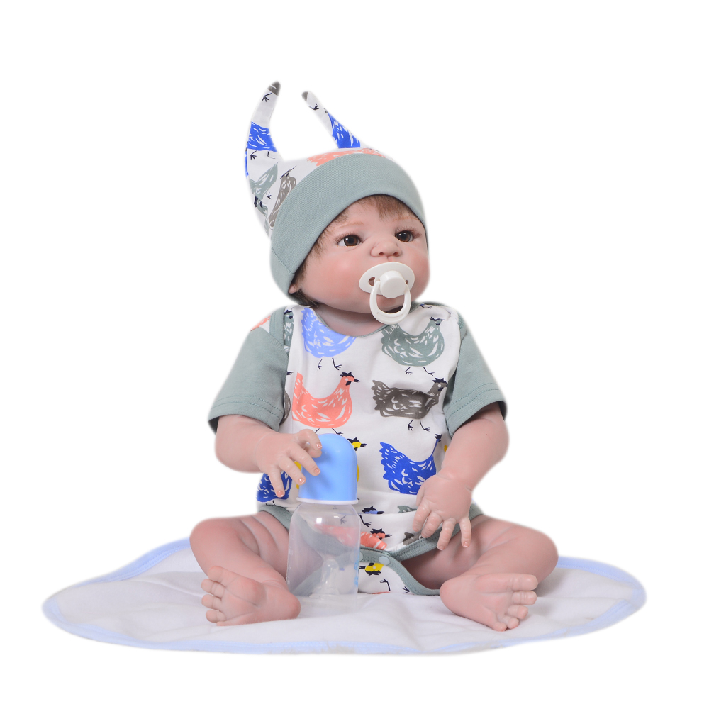 "KEIUMI 22"" Real Lifelike Reborn Baby Silicone Vinyl Newborn Boy <strong>Dolls</strong> For Gifts"