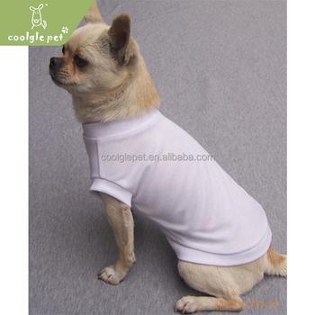 Hot Selling Basic Solid Color Black Dog T Shirt Blank Dog Shirt