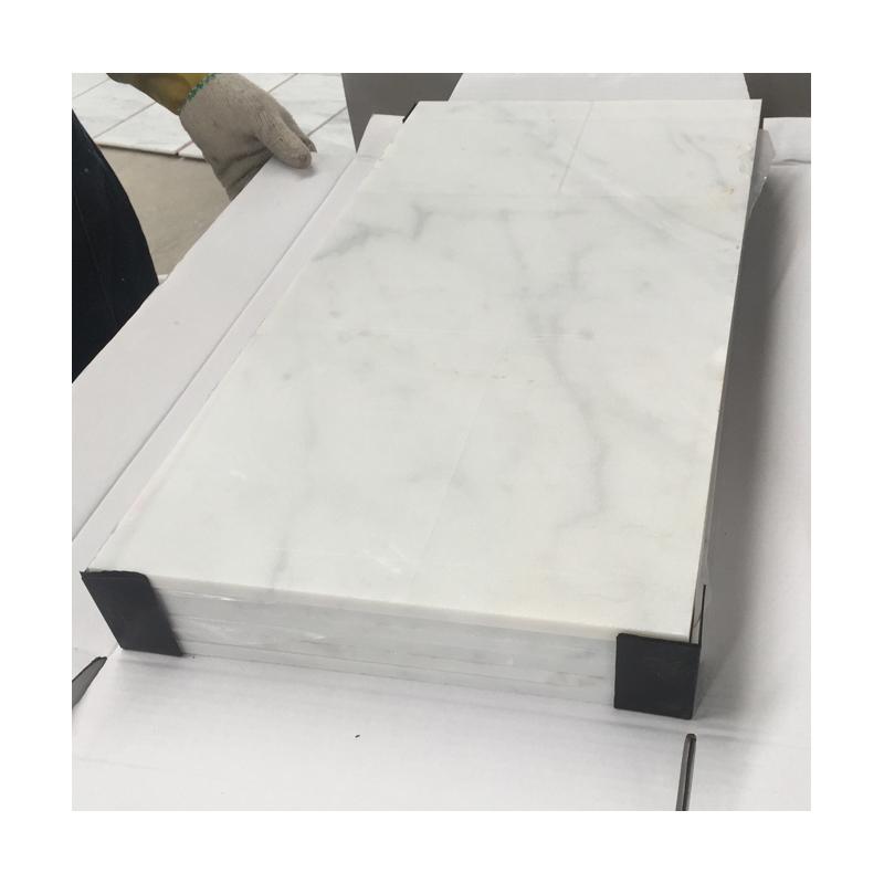 Slab Carrara White Marble Tile 1cm