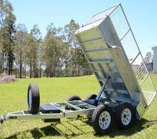 heavy duty tandem hydraulic tipping box trailer