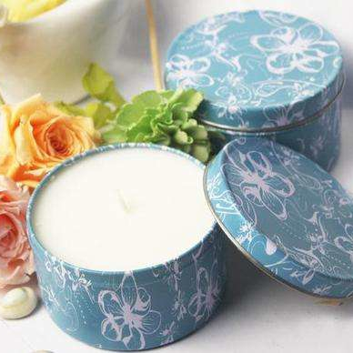 Traveling Use Customized Scented Multi Size Soy Wax Tin Box Candle