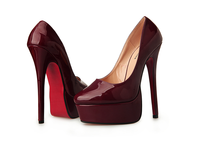 1b1ddb5e5515 Get Quotations · Plus 40-44 45 46 47 48 Hot sale lady red bottom women s  pumps