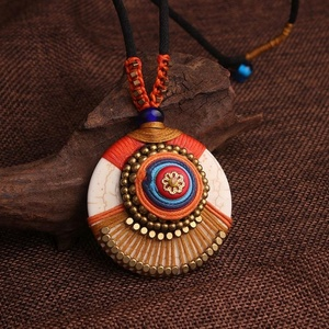 Handmade braided Fashion vintage India necklace,Evade peace Nepal jewelry
