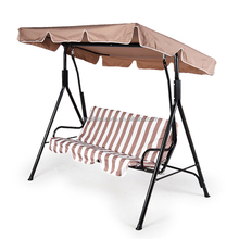 outdoor patio steel 3-seat balcony swingasan chair for garden