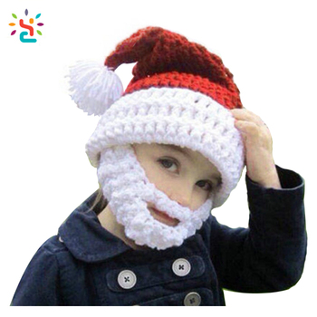 bb2b8f2cc45 Christmas Knight Helmet Winter Hat Children Beanie Babies crochet Knit Face  Mask Beanie Hat mustache Party