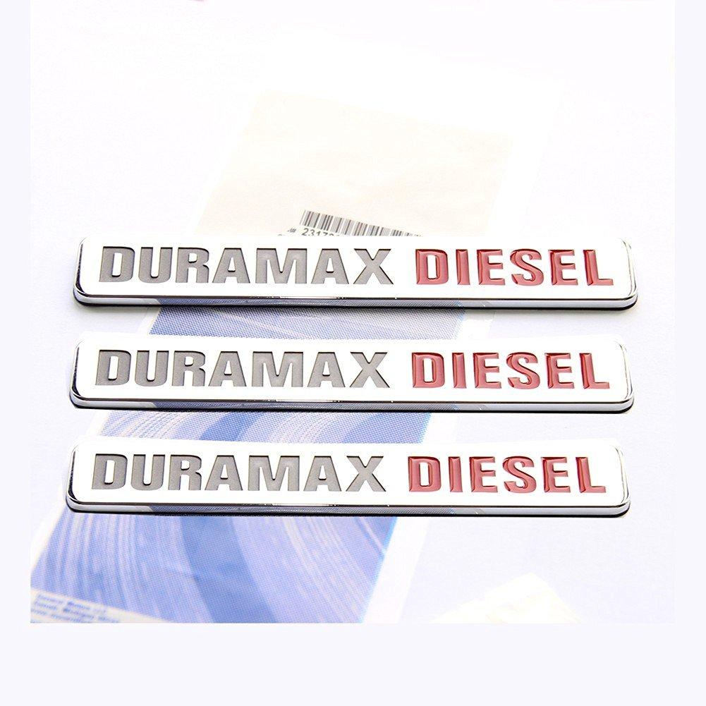 Yoaoo® 3x OEM Duramax Diesel Allison Truck Emblem Badges SILVERADO 2500 3500 HD GMC SIERRA Glossy Chrome