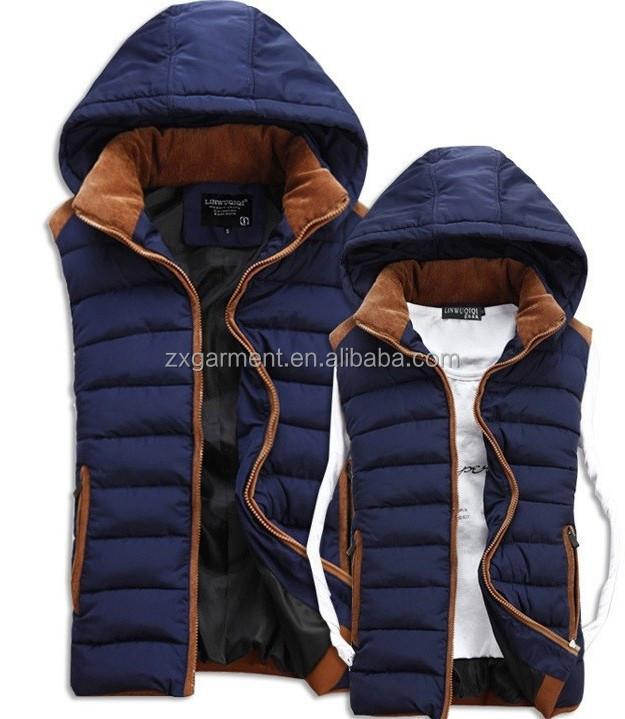 e0bd054438721 Casual Hooded Vests Men women Sleeveless Jacket 2017 Autumn Winter High  Quality Cotton-padded Waistcoat