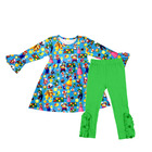 New arrival baby girl boutique clothing long sleeve fashion cute fall and winter clothing sets