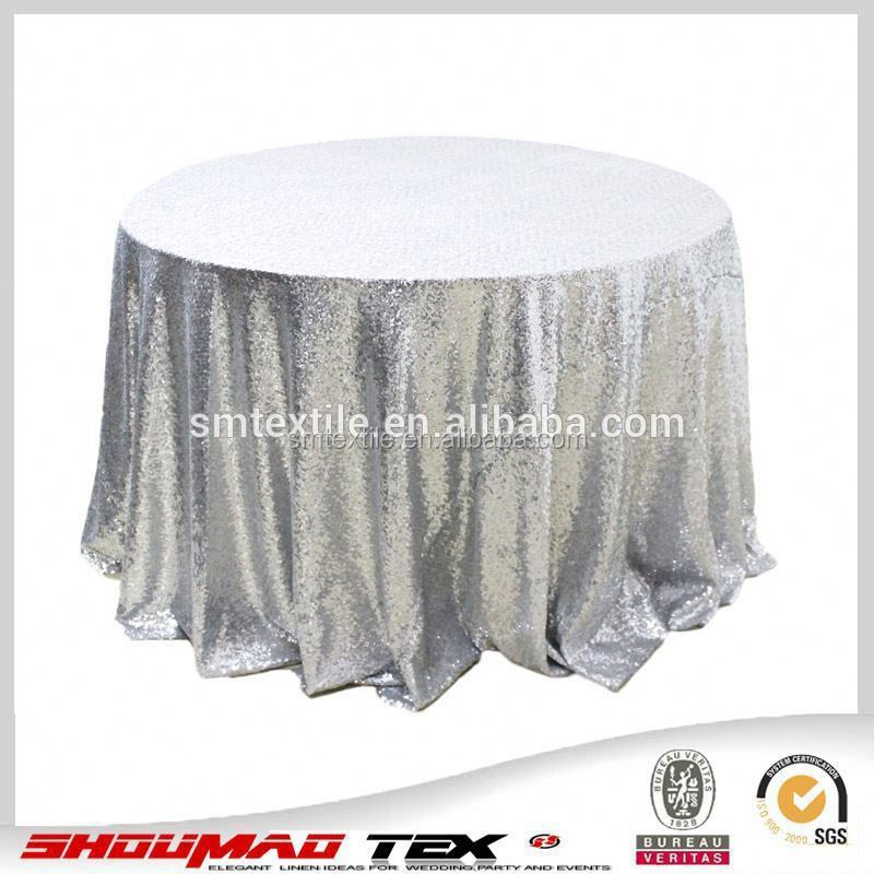 Elegant handmade sequin beaded rectangular tablecloths