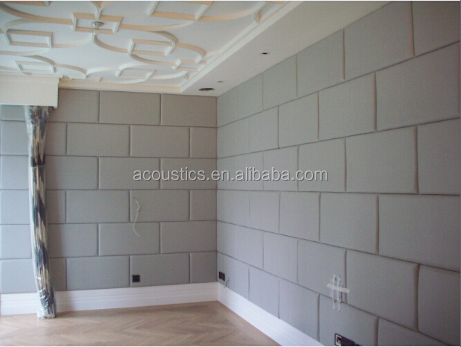 Fabric Covered Acoustic Wall Panels,Plant Fiber 3d Wall Decoration ...