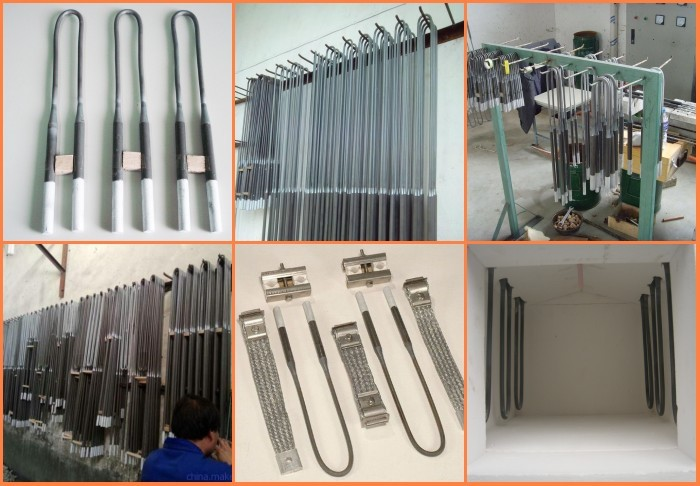 1600 MoSi2 rod heating element laboratory electric tube furnace CVD System