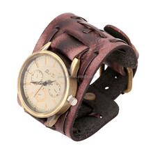 2015 America And Europe Style High Quality Mens Leather Bracelet Watch