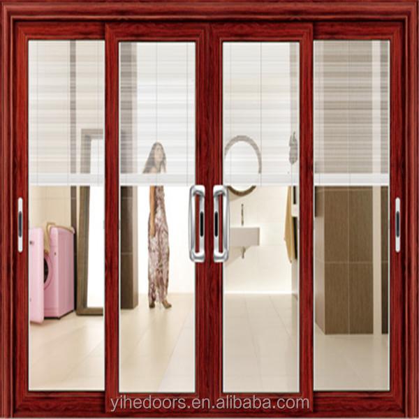 Doble puerta corredera de cristal templado para living for Puertas de cristal para oficina