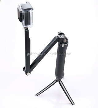 GP261 Underwater Diving Folding 3 Way Adjustable Bracket Tripod Monopod Hand Pole Grip Mount For
