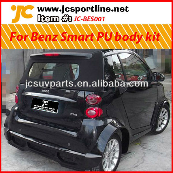 For Mercedes Benz Smart PU body kit (including front bumper lip, side skirts, rear bumper lip and the wheel arch)