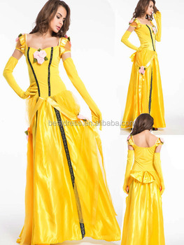 new adult princess belle costume beauty and the beast halloween fancy dress