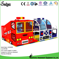 Police and fire station theme design indoor playground equipment prices