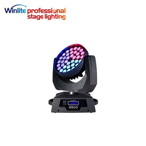 36x18w 6in1 rgbwa+uv zoom led moving head wash light with Pizza effect