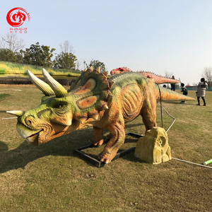 Made in China green life size dinosaur statues