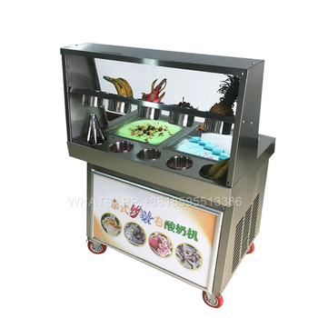 high quality fast cooling thailand style roll fry ice cream machine