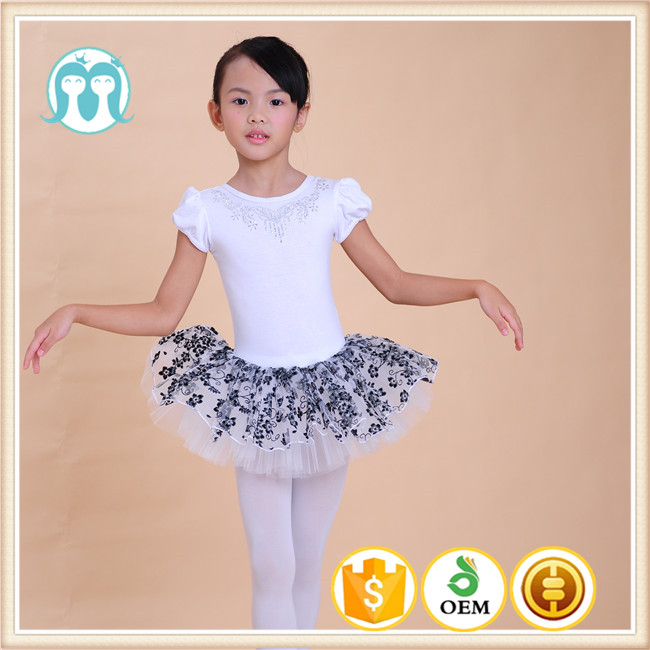 kids dress Children's dancing tiny flowers embroidered dress kid ballet dancewear clothes