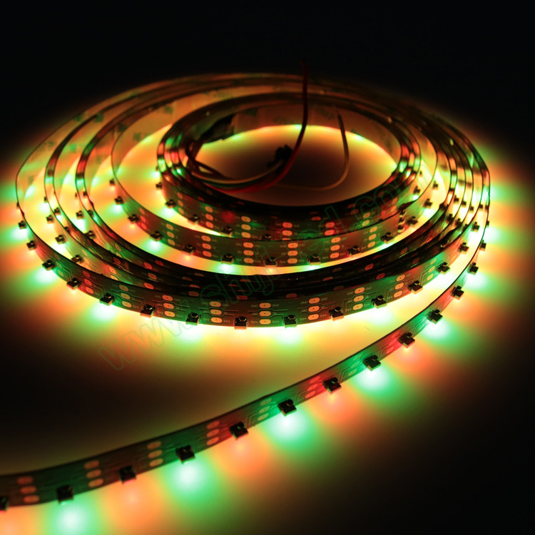 DC 5V IC SK6812 4020 side-view light 60/64/90/120 <strong>LEDs</strong>/Meter WS2812b magic light strip super high brightness colorful effect