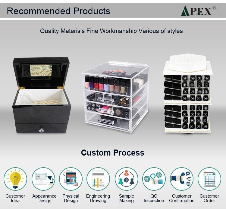 APEX einzigartige design klaren acryl make-up schublade fall veranstalter