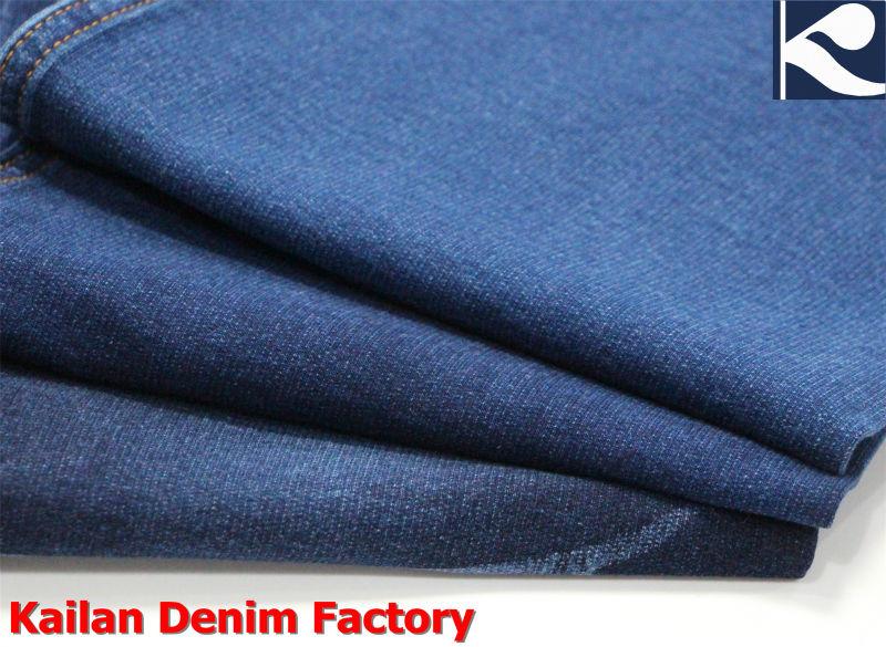 Stretch Indigo Knitted Denim Fabric Ka-838-1