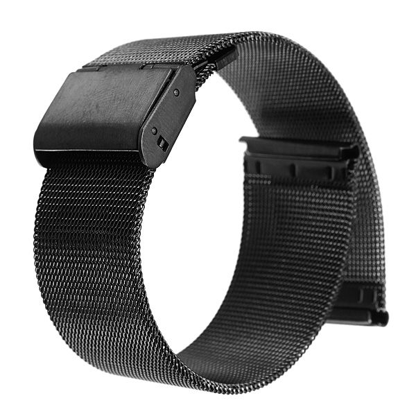 Самая низкая цена черный 18 мм 20 мм 22 мм 24 мм сетка из нержавеющей стали ремешка замена наручные часы группа