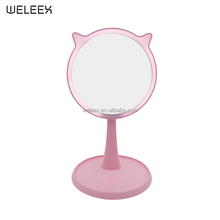 Touchscreen Dimmable LED Light for Countertop Cosmetic Makeup USB Rechargeable Vanity Cute Gift Mirror WX005