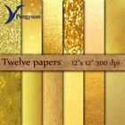 Factory direct sales gold aluminum glitter paper foil