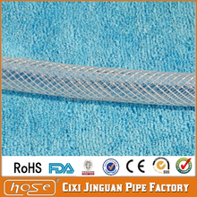 Export USA Market 50 Meters Soft Milk REACH Approved FDA Food Grade 9.5mm Transparent PVC Braided Vinyl Tube PVC Water Hose Pipe