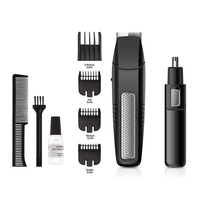Battery-Operated Water Resistant Dual Edge Blades Electric Nose Ear Hair Trimmer for Men