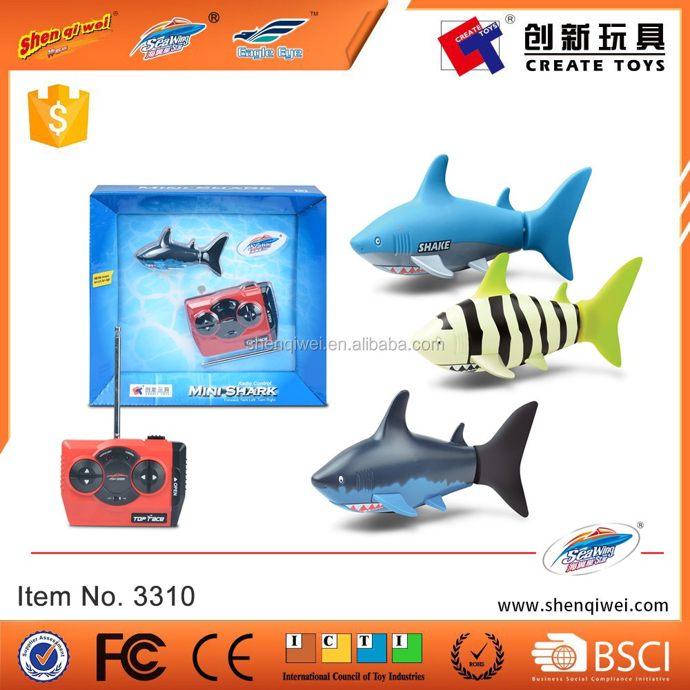 2016 Summer Toys growing Swimming Mini Rc Shark toy