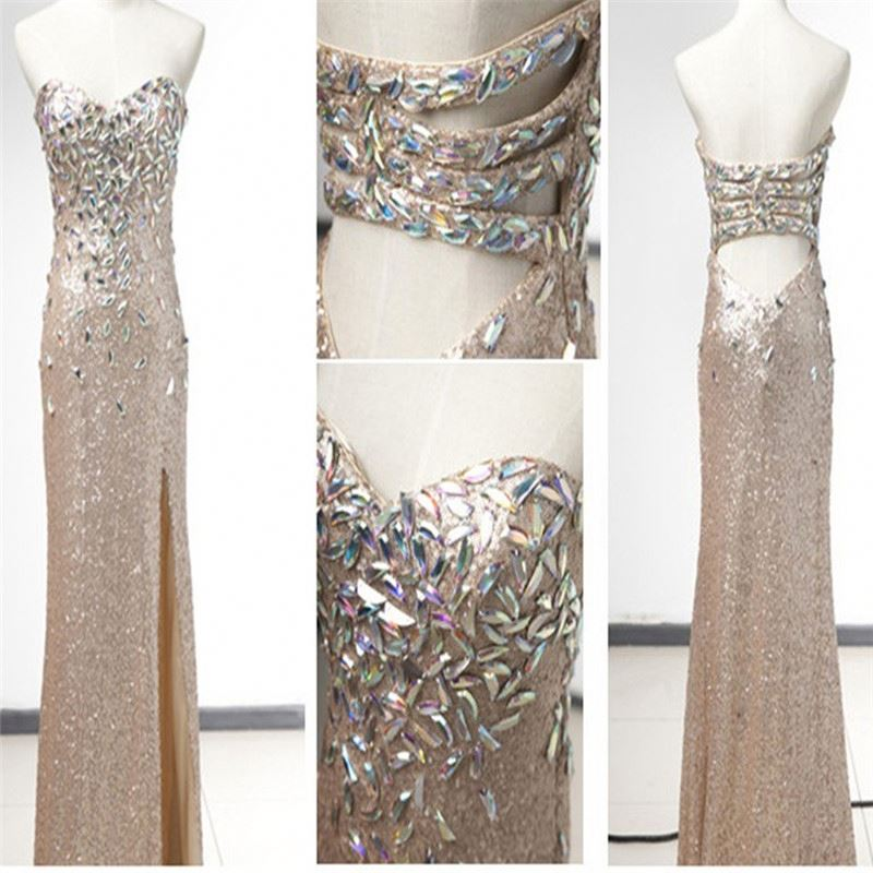 new style sweetheart sequined lace crystal beadings long pary dress sexy evening dress St338